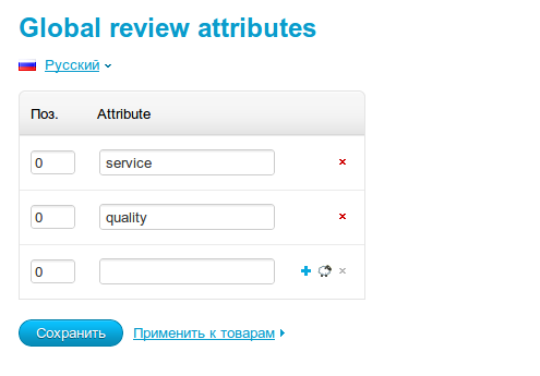 Global review attributes