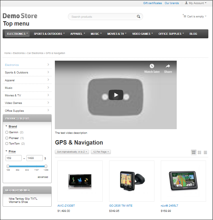 CS-Cart insert video in category