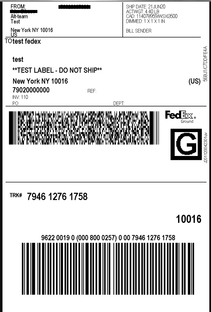 Fedex shipping label in CS-Cart