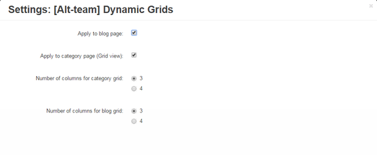 Dynamic Grid settings