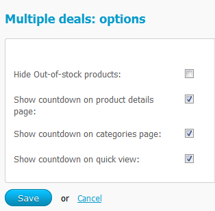 Multiple deals options