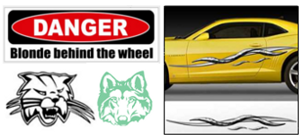 Sticker designer for building a custom stickers online store Custom car designer online