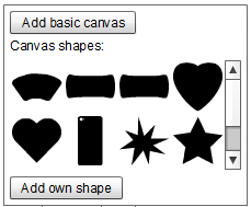 Choose canvas shape