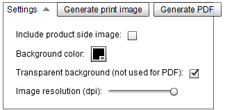 Print image settings