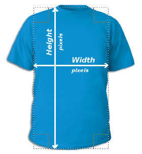 Digital t-shirt measuring