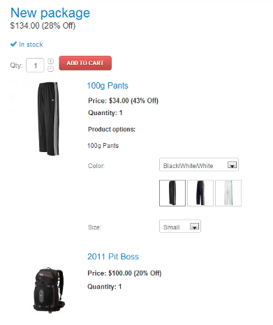 Product package storefront