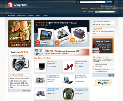 Magento store-front demo