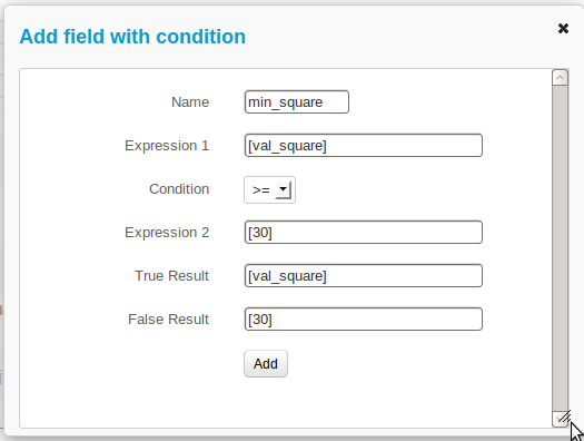 Field with condition