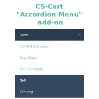 Accordion menu cs-cart