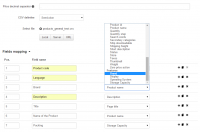 import field mapping features