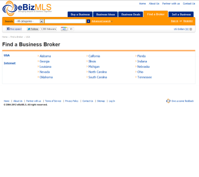 Find a broker section