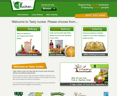 Tasty Tucker - homepage