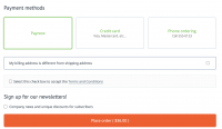 CS-Cart Checkout page Payrexx payment method