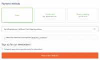 CS-Cart checkout page with Vipps payment