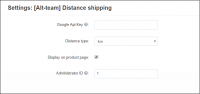 shipping cost per miles add-on