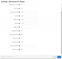 slider settings cs-cart