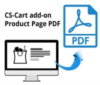CS-Cart add-on Product Page PDF